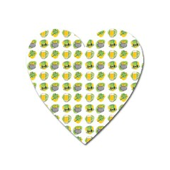 St Patrick S Day Background Symbols Heart Magnet by BangZart