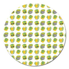 St Patrick S Day Background Symbols Magnet 5  (round) by BangZart