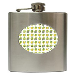 St Patrick S Day Background Symbols Hip Flask (6 Oz)