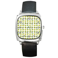 St Patrick S Day Background Symbols Square Metal Watch by BangZart