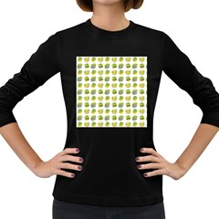 St Patrick S Day Background Symbols Women s Long Sleeve Dark T Shirts