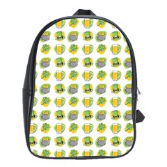 St Patrick S Day Background Symbols School Bags(large)  by BangZart