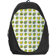 St Patrick S Day Background Symbols Backpack Bag by BangZart