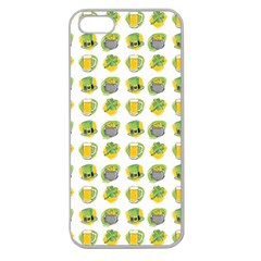 St Patrick S Day Background Symbols Apple Seamless Iphone 5 Case (clear)