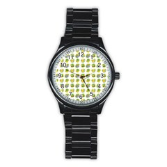 St Patrick S Day Background Symbols Stainless Steel Round Watch by BangZart
