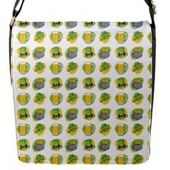 St Patrick S Day Background Symbols Flap Messenger Bag (s)