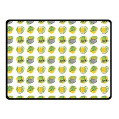 St Patrick S Day Background Symbols Double Sided Fleece Blanket (small)  by BangZart