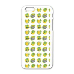 St Patrick S Day Background Symbols Apple Iphone 6/6s White Enamel Case