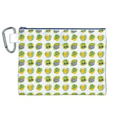 St Patrick S Day Background Symbols Canvas Cosmetic Bag (xl) by BangZart