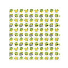 St Patrick S Day Background Symbols Small Satin Scarf (square)