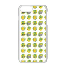 St Patrick S Day Background Symbols Apple Iphone 7 Plus White Seamless Case