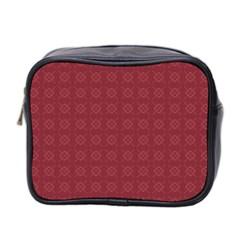 Purple Pattern Background Texture Mini Toiletries Bag 2 Side by BangZart