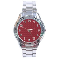 Purple Pattern Background Texture Stainless Steel Analogue Watch