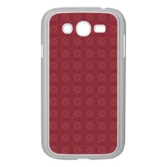 Purple Pattern Background Texture Samsung Galaxy Grand Duos I9082 Case (white) by BangZart