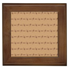 Brown Pattern Background Texture Framed Tiles by BangZart