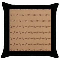 Brown Pattern Background Texture Throw Pillow Case (black)
