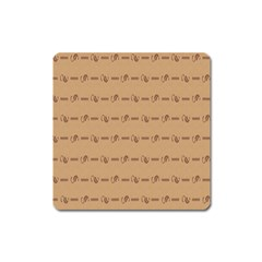 Brown Pattern Background Texture Square Magnet