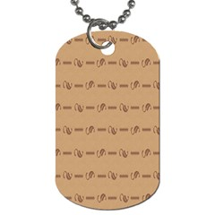 Brown Pattern Background Texture Dog Tag (one Side) by BangZart