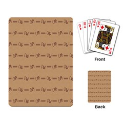 Brown Pattern Background Texture Playing Card