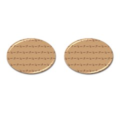 Brown Pattern Background Texture Cufflinks (oval)