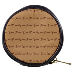 Brown Pattern Background Texture Mini Makeup Bags