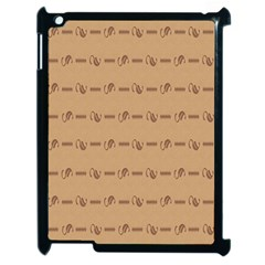Brown Pattern Background Texture Apple Ipad 2 Case (black)