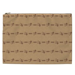Brown Pattern Background Texture Cosmetic Bag (xxl)