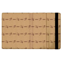 Brown Pattern Background Texture Apple Ipad 2 Flip Case by BangZart