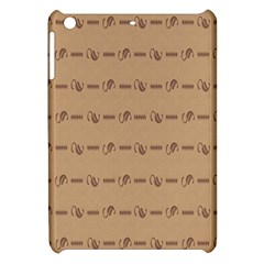 Brown Pattern Background Texture Apple Ipad Mini Hardshell Case by BangZart