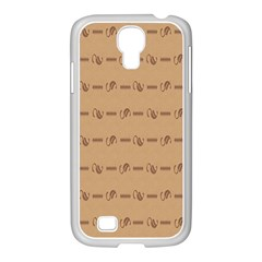 Brown Pattern Background Texture Samsung Galaxy S4 I9500/ I9505 Case (white)