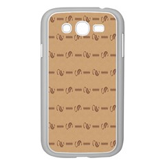 Brown Pattern Background Texture Samsung Galaxy Grand Duos I9082 Case (white) by BangZart