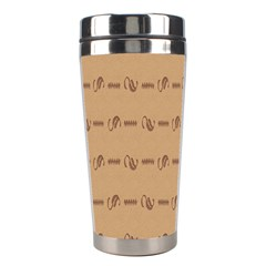 Brown Pattern Background Texture Stainless Steel Travel Tumblers by BangZart