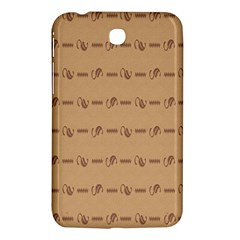 Brown Pattern Background Texture Samsung Galaxy Tab 3 (7 ) P3200 Hardshell Case  by BangZart