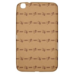 Brown Pattern Background Texture Samsung Galaxy Tab 3 (8 ) T3100 Hardshell Case