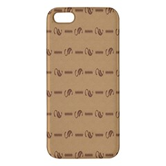 Brown Pattern Background Texture Iphone 5s/ Se Premium Hardshell Case by BangZart