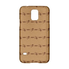 Brown Pattern Background Texture Samsung Galaxy S5 Hardshell Case