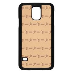 Brown Pattern Background Texture Samsung Galaxy S5 Case (black)
