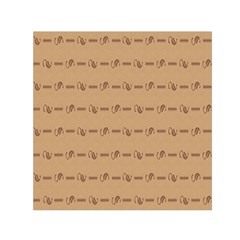 Brown Pattern Background Texture Small Satin Scarf (square) by BangZart