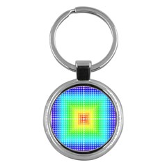 Square Rainbow Pattern Box Key Chains (round)  by BangZart