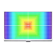 Square Rainbow Pattern Box Business Card Holders