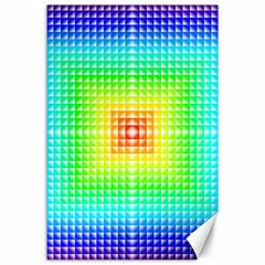 Square Rainbow Pattern Box Canvas 24  X 36  by BangZart