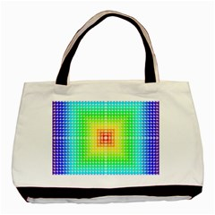 Square Rainbow Pattern Box Basic Tote Bag (two Sides) by BangZart