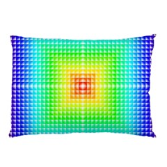 Square Rainbow Pattern Box Pillow Case