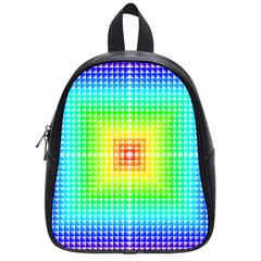 Square Rainbow Pattern Box School Bags (small)  by BangZart