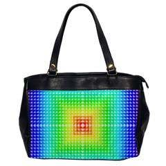 Square Rainbow Pattern Box Office Handbags by BangZart