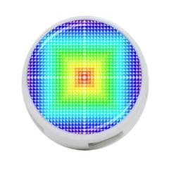 Square Rainbow Pattern Box 4 Port Usb Hub (two Sides)  by BangZart