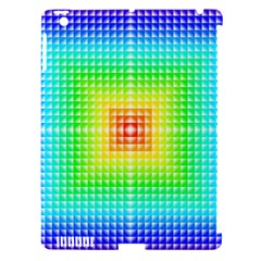 Square Rainbow Pattern Box Apple Ipad 3/4 Hardshell Case (compatible With Smart Cover) by BangZart