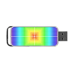 Square Rainbow Pattern Box Portable Usb Flash (two Sides) by BangZart