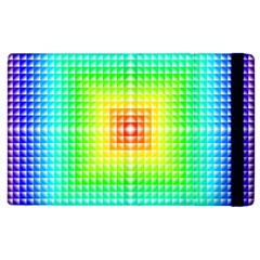 Square Rainbow Pattern Box Apple Ipad 2 Flip Case