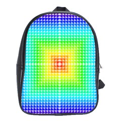 Square Rainbow Pattern Box School Bags (xl)